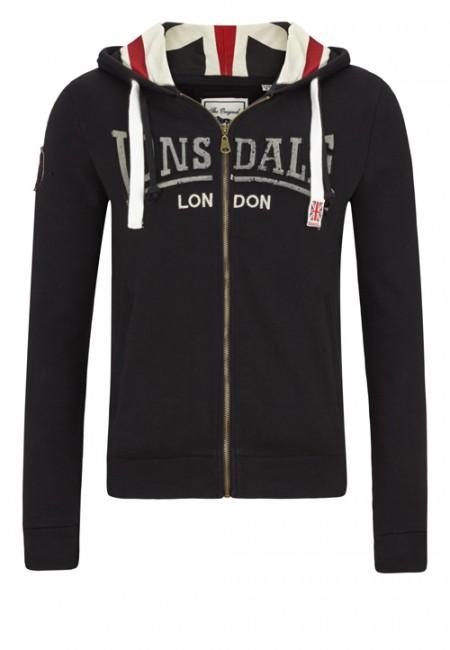 Lonsdale pánská mikina XL (CALLINGTON Black )