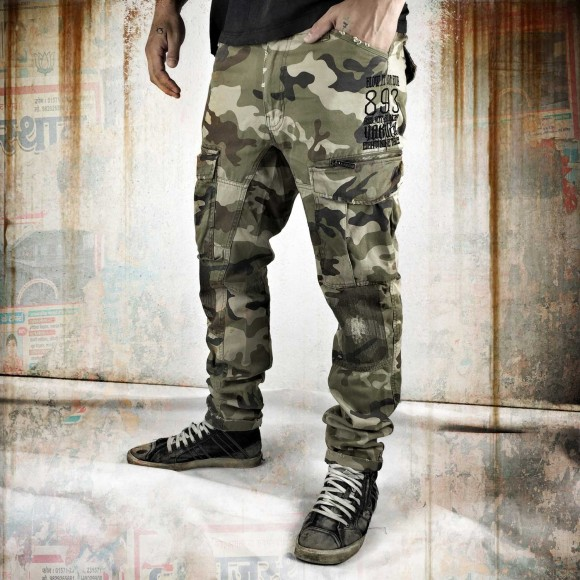 Yakuza pánské kalhoty - 32 (Industrial Cargo Pants CPB 8041 camuflage)