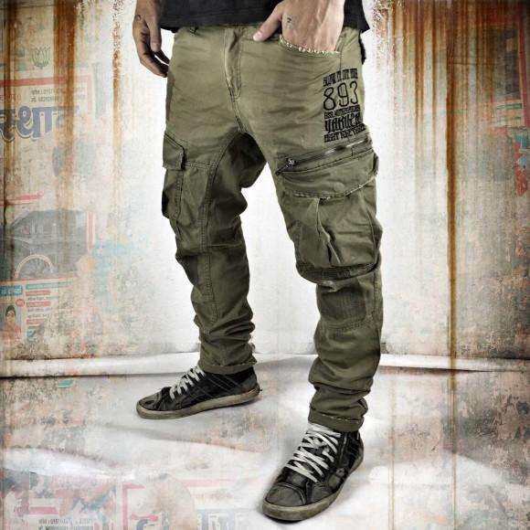 Yakuza pánské kalhoty - 33 (Industrial Cargo Pants CPB 8041 stone gray )