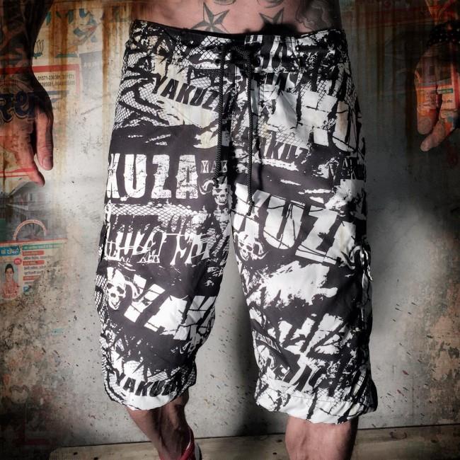 Yakuza pánské šortky XXL (Board Shorts BSB 645 black)