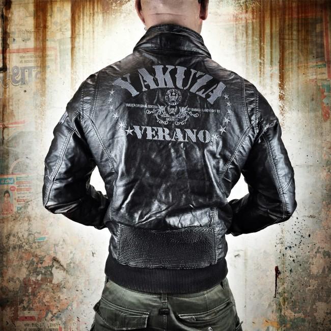 Yakuza pánská bunda 5XL (Verano Biker Jacket JB 7046 black )