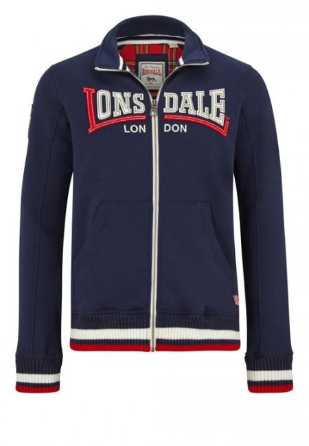 Lonsdale pánska mikina černá XXL (WORTH Men Zipsweat Jacket )