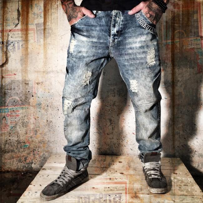 Yakuza jeansy pánské 34 (JEB 557 Light Vintage )