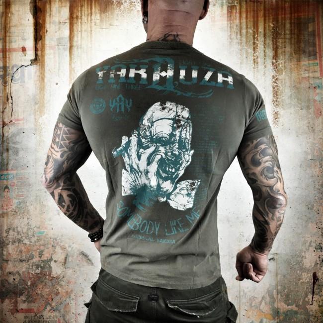 Yakuza tričko pánske L (SOMEBODY LIKE ME TSB 7009 stone gray moon)