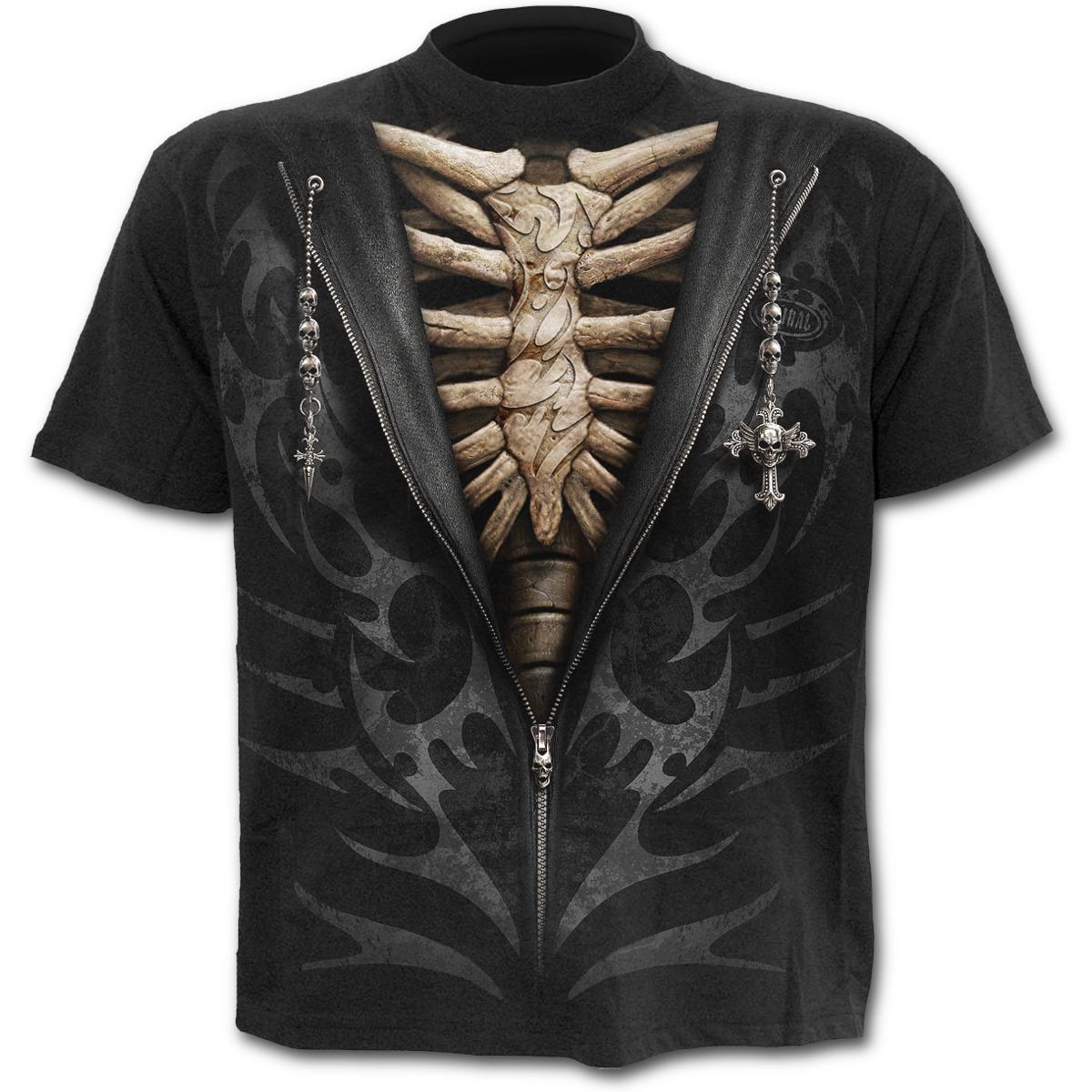 Spiral Direct tričko pánské - XXL (UNZIPPED T-Shirt Black)