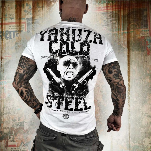 Yakuza tričko pánské - M (COLD STEEL TSB 7006 white)