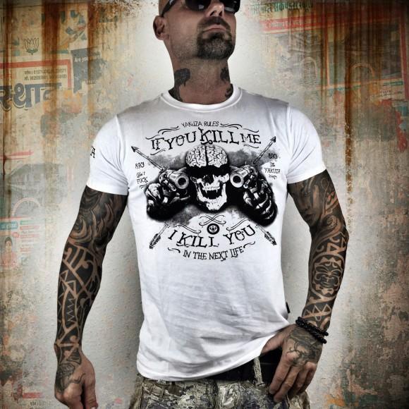 Yakuza tričko pánské - L (Kill Me TSB 9012 White)