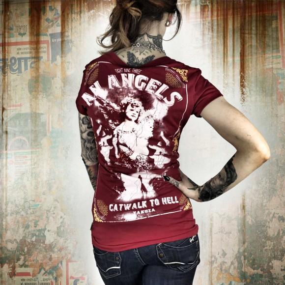 Yakuza dámské tričko - M ( AN ANGELS GSB 9114 ribbon red)