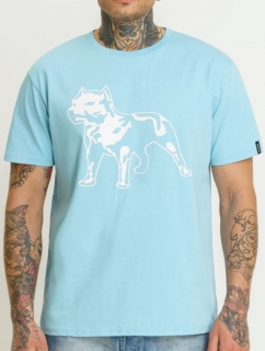 Amstaff Tričko Logo Light Blue
